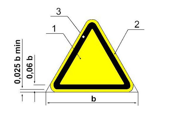 форма знака для обозначения категории пожарной опансости