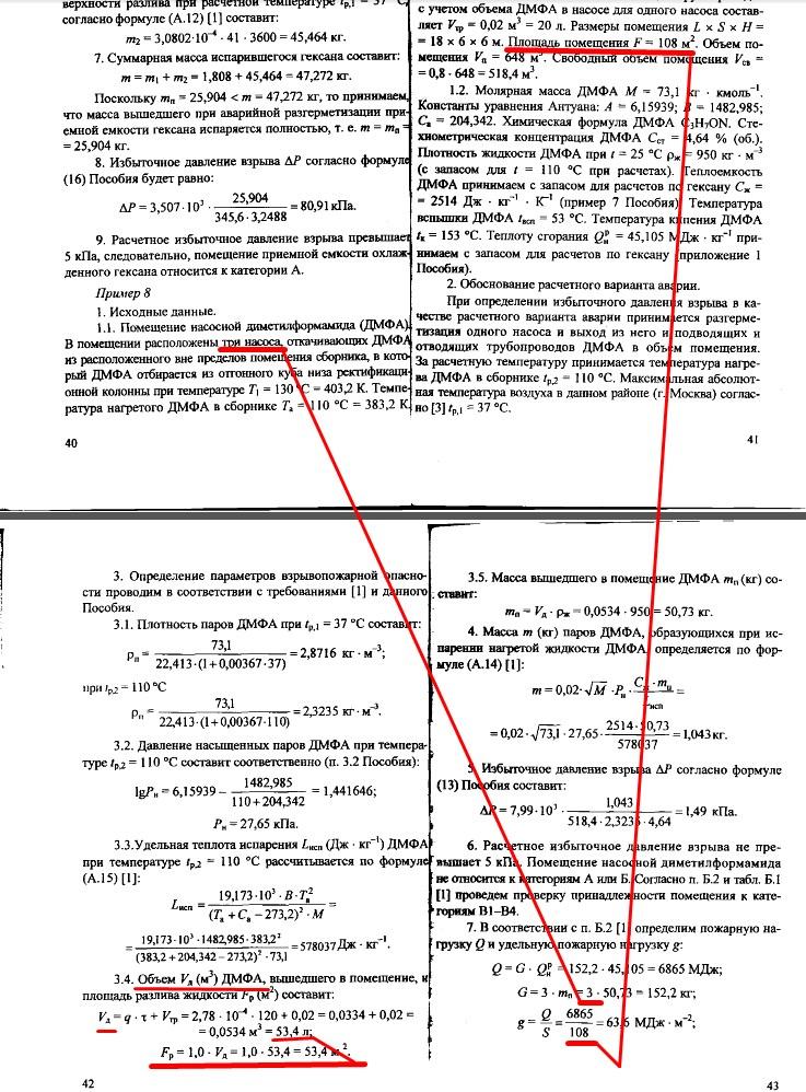 определение площади размещения пожарной нагрузки